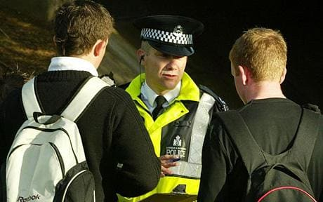 police talking to teenager